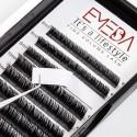 2 Packs C Curl 12mm+14mm 100% Real Mink Individual Eyelash Extensions