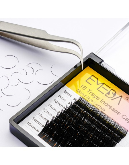 Eyelash Extensions J  B C D Curl 0.15 Mixed Tray 8-15mm Lash Extension Supplies 16 Rows 8 9 10 11 12mm 13mm 14mm 15mm Faux Mink False Individual Single Eye Lashes  wholesale vendors