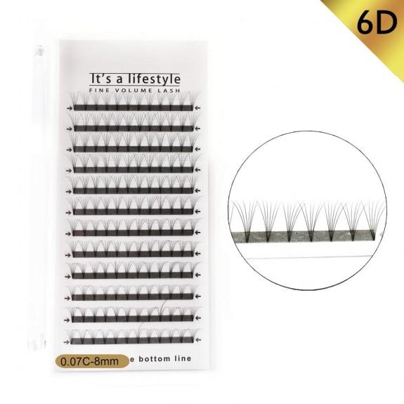 3D/5D/6D 0.07mm C Curl 8mm,10mm,12mm Single Length Premade Fans Volume Eyelash Extension