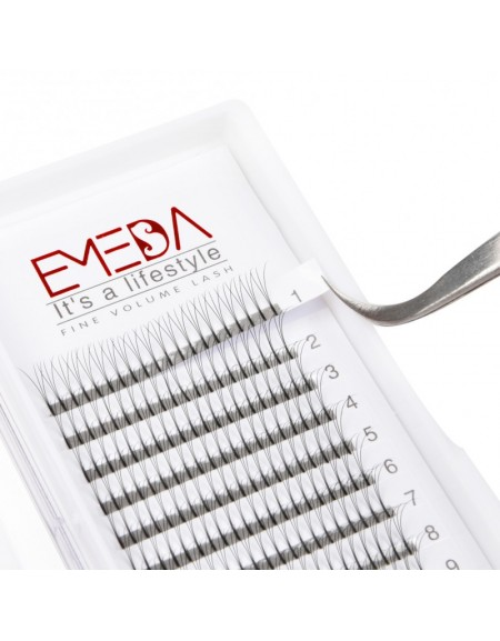 D Curl  Length 8-15mm  Eyelash Extensions Eyelash Extension Natural Black Lashes By EMEDA