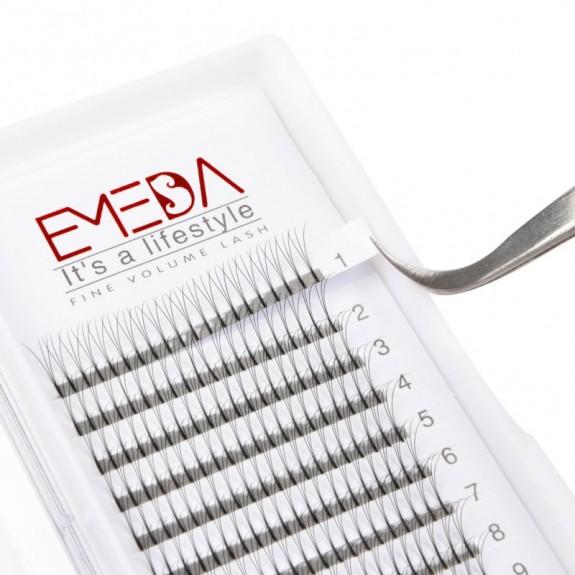 D Curl  Length 8-15mm  Eyelash Extensions Eyelash Extension Natural Black Lashes By EMEDA